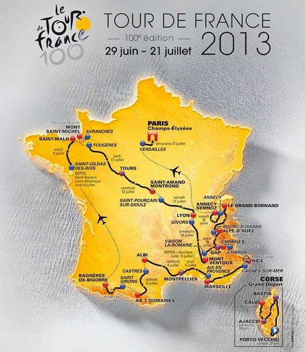 Circuit tour de France 2013