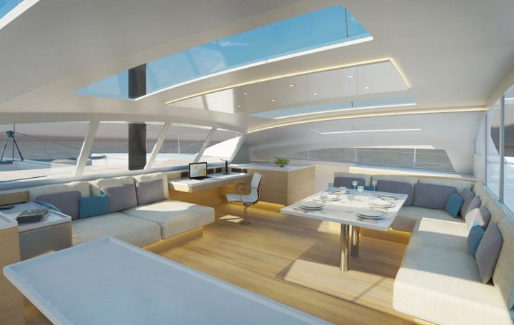 catamaran de course croisi re de luxe volier luxe catamaran. Black Bedroom Furniture Sets. Home Design Ideas