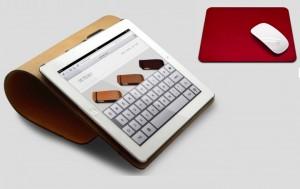 Idées cadeaux : étui pour Ipad et tapis de souris en cuir De Telmo