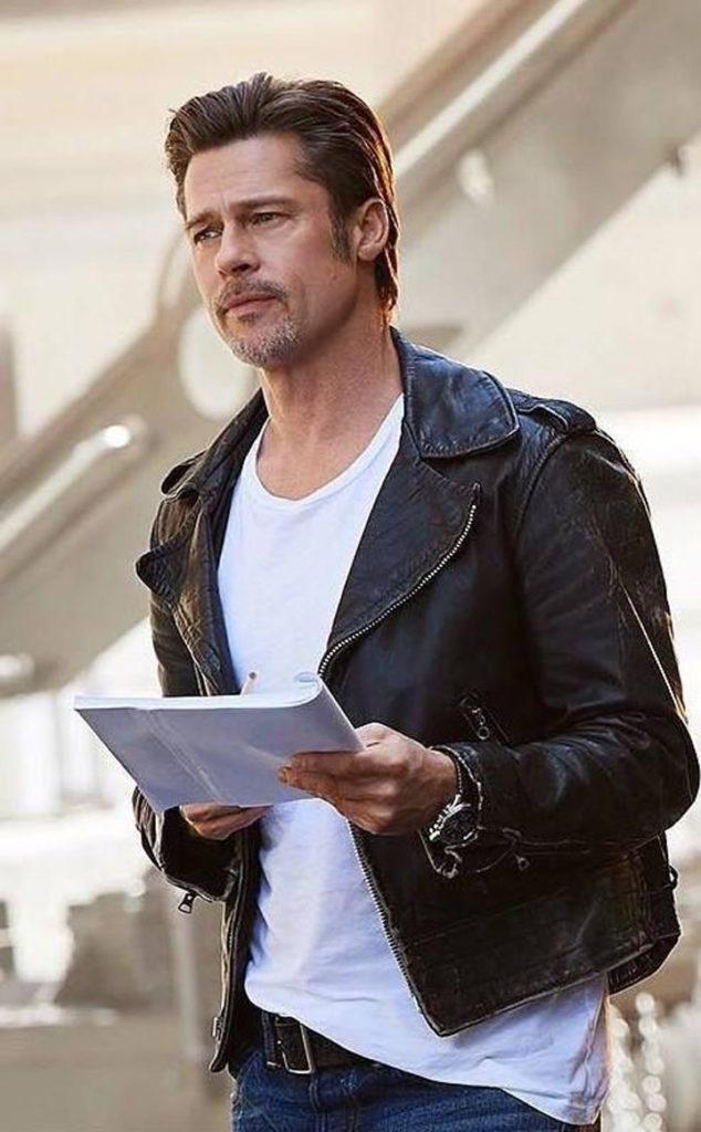 T-Shirt Blanc Brad Pitt