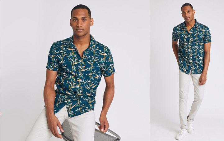 chemisette pour homme à motifs